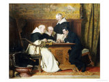 The Chess Players Giclee Print by Ture Nikolaus Cederstrom