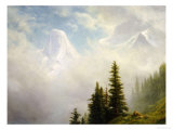High in the Mountains Print by Albert Bierstadt