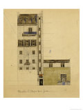 London, Elevation of Proposed Studio in Glebe Place and Upper Cheyne Walk, 1920 Print by Charles Rennie Mackintosh