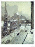 Winter in the City Premium Giclee Print by Paul Cornoyer