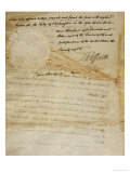 Document Constituting the Proclamation of the Louisiana Purchase, Dated 1803 Giclee Print