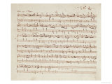 Autographed Manuscript of Valse Opus 70 No.1 in G Flat Major Giclee Print by Fryderyk Chopin