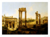 The Forum, Rome Giclee Print by Jean Victor Louis Faure