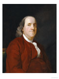 Portrait of Benjamin Franklin (1706-1790) Premium Giclee Print by Joseph Wright of Derby