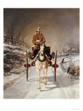 A Winter's Drive, 1862 Giclee Print by Jr, Benjamin Herring