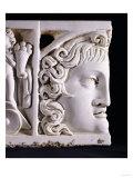 Detail of a Roman Marble Sarcophagus Lid Fragment, circa 3rd Century AD Giclee Print