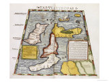 A Fine Hand-Coloured Map of Britain, 1552 Giclee Print by Claudius Ptolomeus