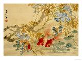 Poissons rouges Poster par Ni Tian