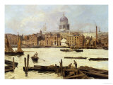 A View of St. Paul's from the Thames Giclee Print by Paulo Sala