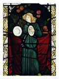 Minstrel Angel with Cymbals, for the East Window of St. John's Church, Dalton Yorkshire Prints by William Morris