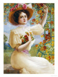 A Summer Beauty, 1909 Premium Giclee Print by Emile Vernon