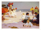 On the Beach Premium Giclee Print by Edward Henry Potthast