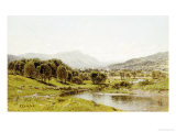 Monument Mountain from the Berkshire Meadows, circa 1875 Giclee Print by John Bunyan Bristol