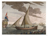 Hand-Colored Engraving from le Neptune Francois, Maritime Atlas, 1693-1700 Posters