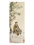 Bodhisattva Pu Xian Seated on a White Elephant Print by Luo Ping