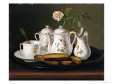 Still Life of Porcelain and Biscuits, 1872 Premium Giclee Print by George Forster