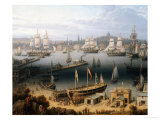 Boston Harbor, 1843 Giclee Print by Robert Salmon