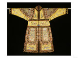 A Rare Embroidered Imperial Yellow Ground Theatrical Costume Giclee Print