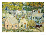 A New England Village Giclee Print by Maurice Brazil Prendergast