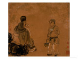 Tasting Tea Lmina gicle por Chen Hongshou