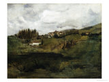 Tuscan Landscape Premium Giclee Print by John Henry Twachtman
