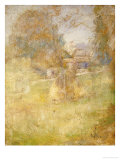 Landscape with Haystack Poster by John Henry Twachtman