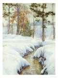 Snowladen Brook Prints by Walter Launt Palmer