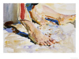 Feet of an Arab, Tiberias Giclee Print by John Singer Sargent