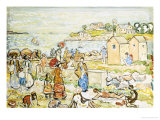 Bathers and Strollers at Marblehead Giclee Print by Maurice Brazil Prendergast