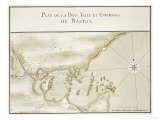 Map of Boston and Environs French, C 1755 Giclee Print