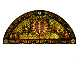A Leaded and Plated Favrile Glass Window Prints by  Tiffany Studios