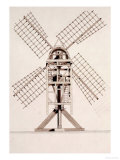 Drawings for Windmills, Dated 1814-17 Giclee Print by Jr, John Farey