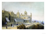 Vorontsov Palace at Alupka, Yalta, Crimea, 1843 Art by Carlo Bossoli