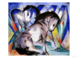 Two Horses, 1913 Impression giclée par Franz Marc