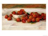 Mansikat Giclée-vedos tekijänä Pierre-Auguste Renoir