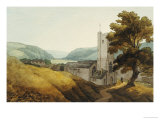 From the Churchyard at Dulverton, Somerset, 1800 Premium Giclee Print by John White Abbott