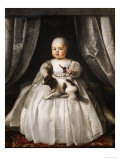 Portrait of King Charles II as a Child, French School, circa 1630 Posters