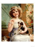 Waiting for the Vet Premium Giclee Print by Emile Vernon