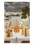 Krishna with the Gopis, Rajesthan, Possibly Bikaner, circa 1760 Giclee Print