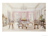 The Drawing Room of Queen's House, Barbados, circa 1880 Giclee Print by Col. Lionel Grimston Fawkes