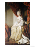 Portrait of Queen Charlotte, Full Length, Seated in Robes of State Reproduction procédé giclée par Joshua Reynolds
