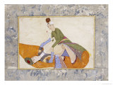 An Erotic Scene, Signed by Abdullah Bokhari Turkey, 1744-5 AD Giclee Print by Abdullah Bokhari