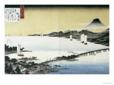 Evening Glow at Seta Giclee Print by Ando Hiroshige
