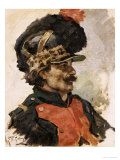 A French Soldier, 1876 Print by Ilya Efimovich Repin