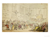The Comforts of Bath- the Ball Prints by Thomas Rowlandson