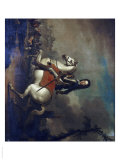 Portrait of King William III, Full Length in Armour, Holding a Baton Giclee Print by Jan Wyck