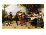 The Country Fair, 1886 Giclee Print by Theodore Gerard