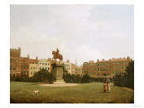 A View of Leicester Square, Circle of William James 18th/19th Century Giclee Print by William James