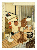 Returning Sails of the Towel Rack Prints by Suzuki Harunobu
