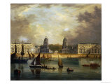 A View of Greenwich, from the River Giclee Print by Frederick Calvert